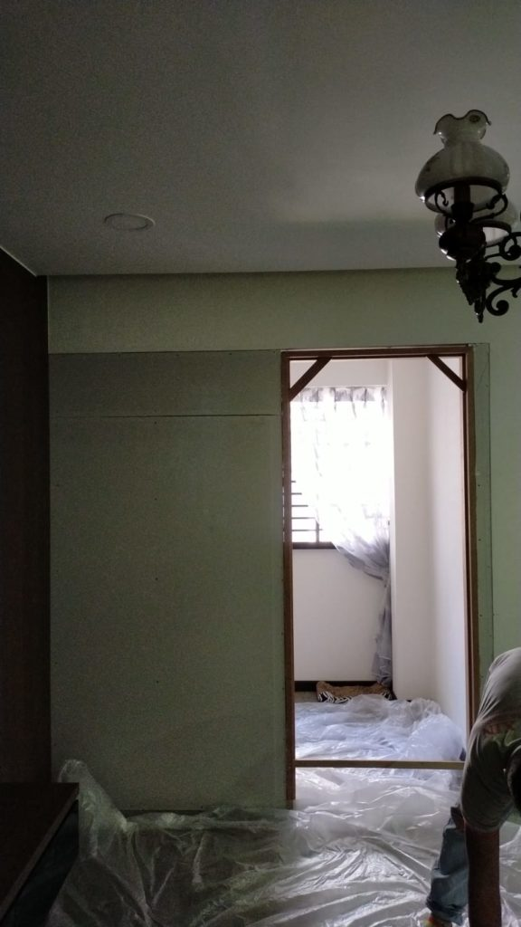 Partition with door